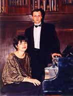 With wife and pianist Maria Barankina